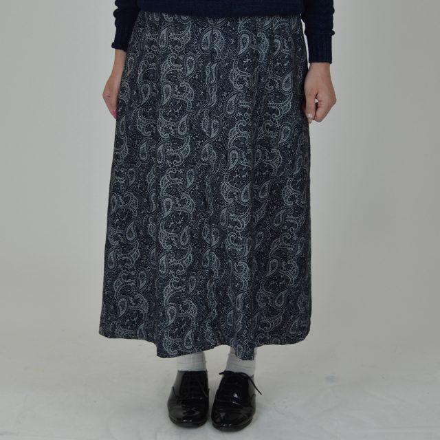 ジャガードペイズリースカート